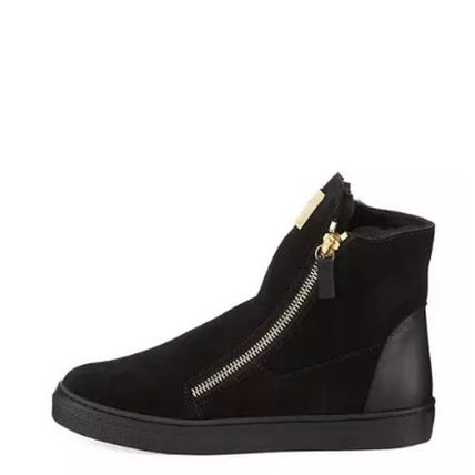 GIUSEPPE ZANOTTI キッズスニーカー 【GIUSEPPE ZANOTTI】 Girls London Laceless Suede High-Top (2)