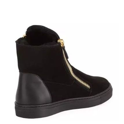 GIUSEPPE ZANOTTI キッズスニーカー 【GIUSEPPE ZANOTTI】 Girls London Laceless Suede High-Top (4)