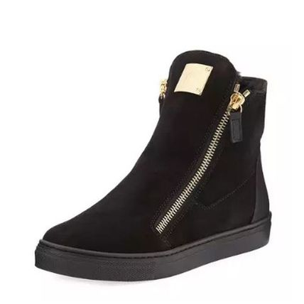 GIUSEPPE ZANOTTI キッズスニーカー 【GIUSEPPE ZANOTTI】 Girls London Laceless Suede High-Top (5)