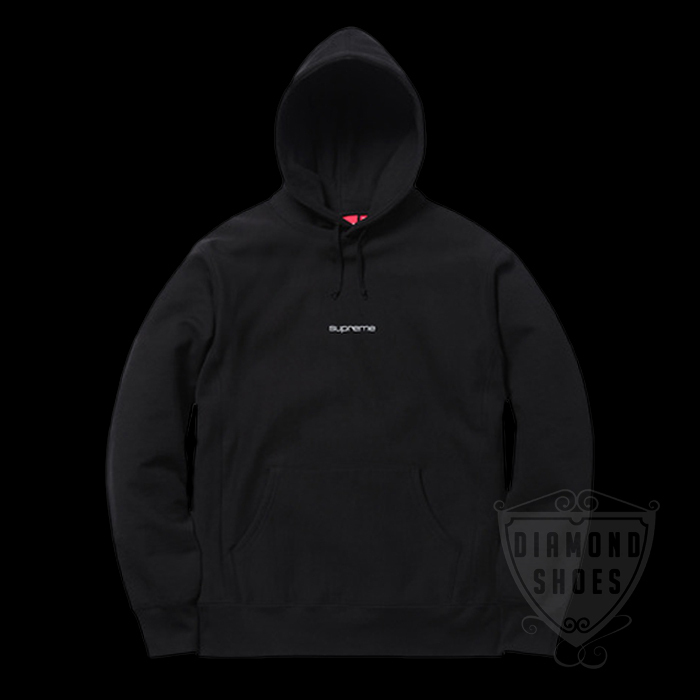 FW17 SUPREME COMPACT LOGO HOODED SWEATSHIRT BLACK 送料無料