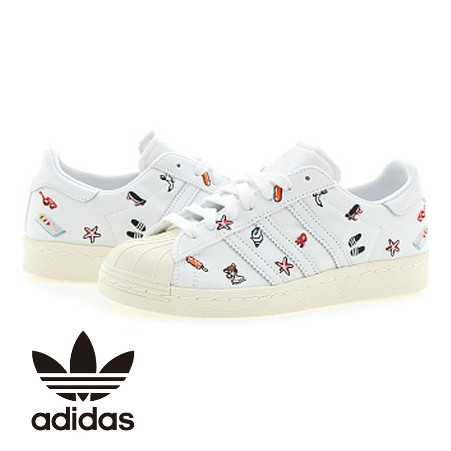 ADIDAS ☆SUPERSTAR 80S W☆BZ0650☆WHITE☆ ス ニ ー カ ー