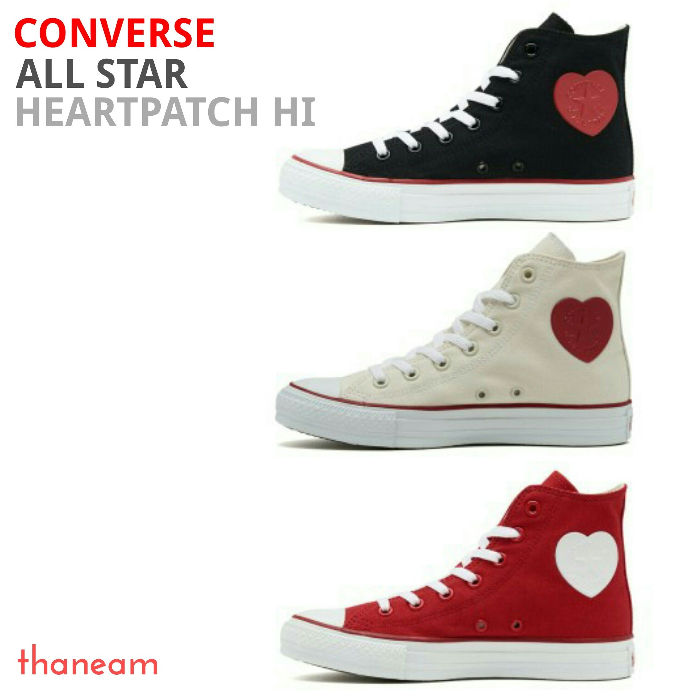 ★CONVERSE★ALL STAR HEARTPATCH HI オールスター ハートパッチ