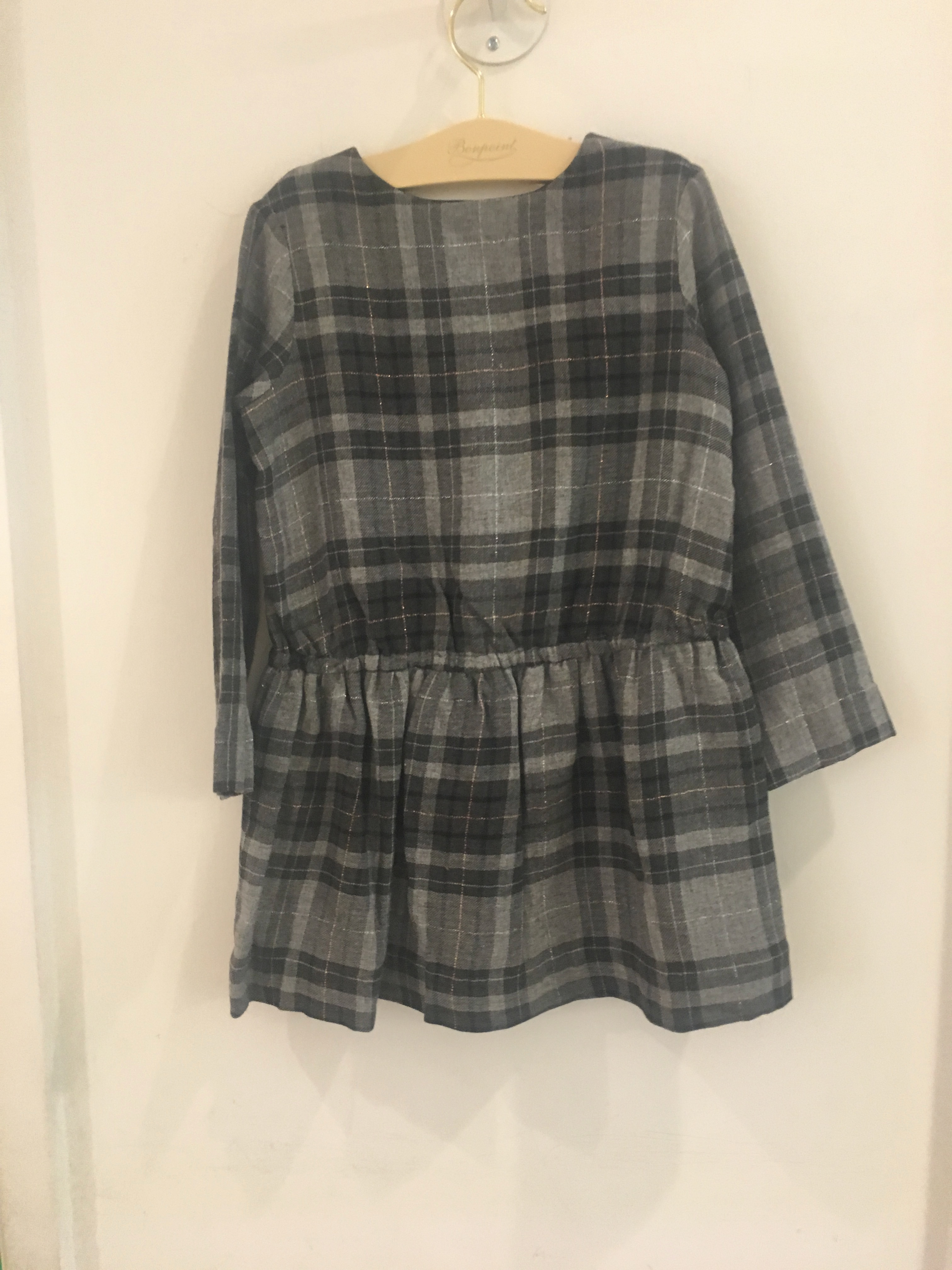 AW17☆FILLE ワンピースFIONA グレーチェック3.4A