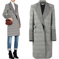 17-18AW SM370 ODELIA CHECKED WOOL BLEND COAT