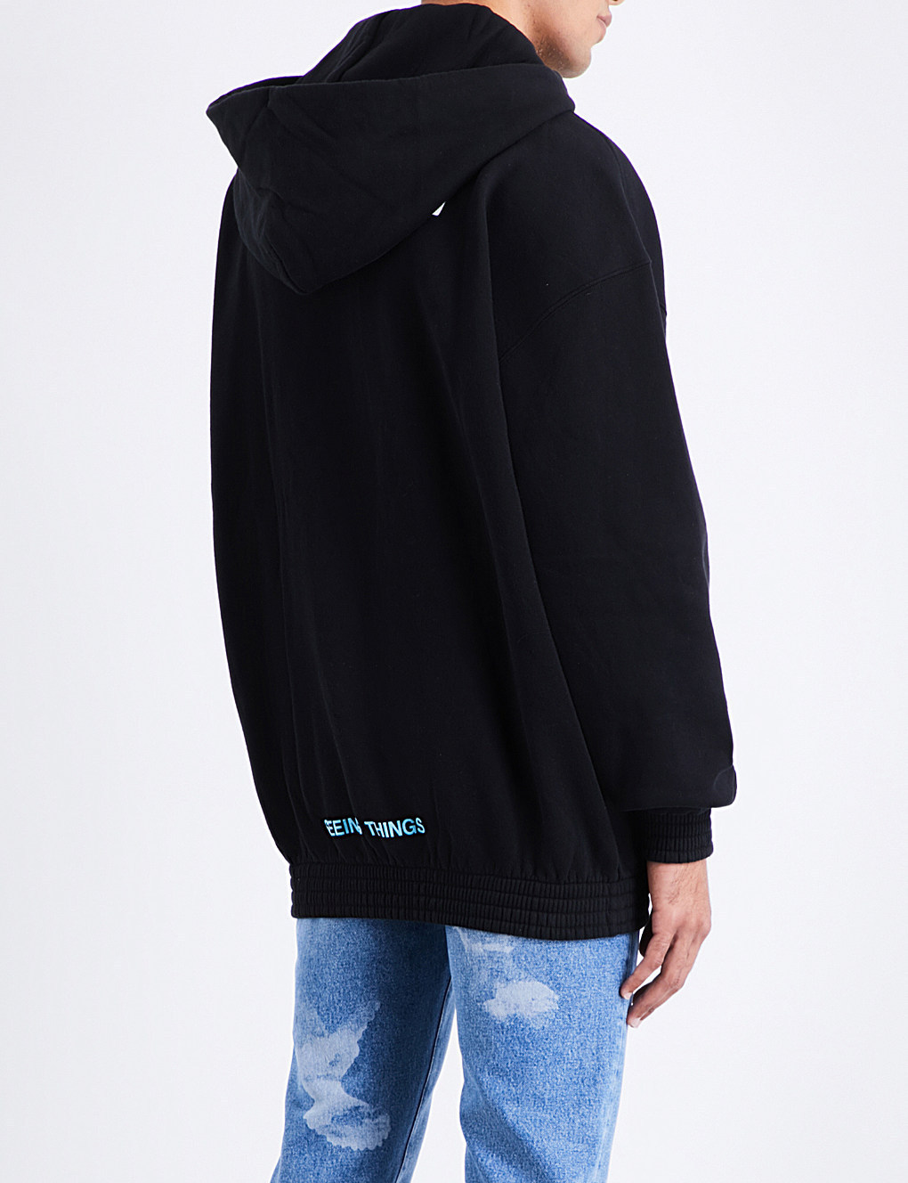 17AW [OFF-WHITE] Angel プリント フーディー/Black /国内発送
