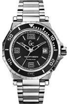 腕時計 ゲス GUESS Gc-3 AquaSport Black and Silver Timepiec【