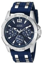 腕時計 ゲス GUESS Men's Blue and Silver-Tone Masculine Sport