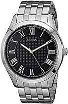 腕時計 ゲス GUESS Men's U0476G1 Classic Silver-Tone Watch wi
