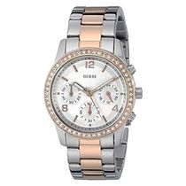 ゲス Guess Sports Silver/Rose Gold Watch W0122L1 女性 レディ