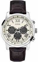 腕時計 ゲス Guess W0380G1 46mm Stainless Steel Case Black Ca