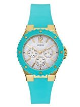 ゲス GUESS Women's U0149L3 Turquoise and Gold-Tone Feminine