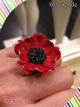 赤が素敵なポピーリングKate spade precious poppies ring