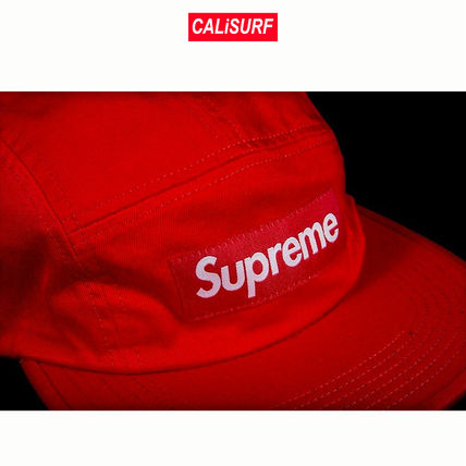 AW17 Supreme(シュプリーム)WASHED CHINO TWILL CAMP CAP/red
