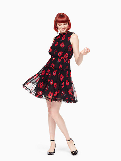 ポピーシフォンドレスKate spade★poppy chiffon mini dress