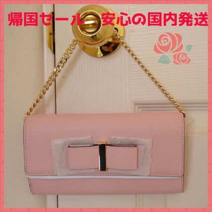 ☆kate spade★parchment driveリボン& チェーン付長財布