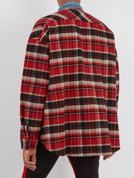 FEAR OF GOD Plaid Cotton Flannel Oversized Shirt