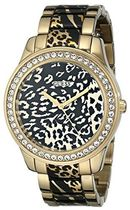 腕時計 ゲス GUESS Women's U0465L1 Gold-Tone Animal Print Wat