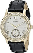 ゲス GUESS Women's U0642L2  Elegant Black & Gold-Tome Wa