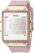 ゲス GUESS Women's U0700L2 Digital Pink Silicone Watch with