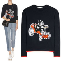 17-18AW SM379 CREW NECK THE DANDY PRINT SWEATER