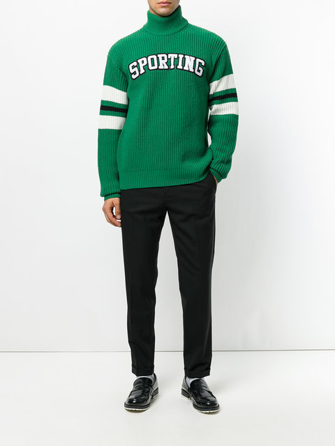 送料込み Sporting patch turtleneck jumper 秋冬トップス