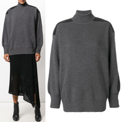 17-18AW SM388 TURTLENECK SWEATER WITH SHOULDER PATCH