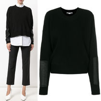 17-18AW SM391 RIB KNIT SWEATER WITH PATCH
