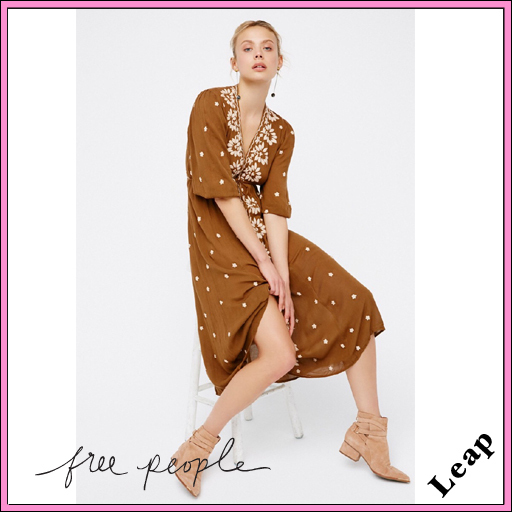 【Free People】大人気☆Embroidered Fable Dress ジンジャー◎