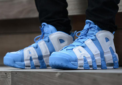 "Nike スニーカー 送料込!Nike Air More Uptempo ""University Blue"" モアテン"