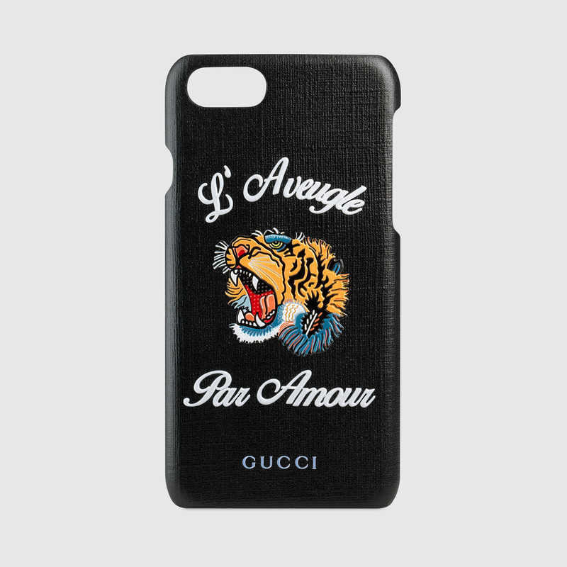 "関税込★GUCCI★""L'Aveugle Par Amour""Tiger iPhone7 ケース"