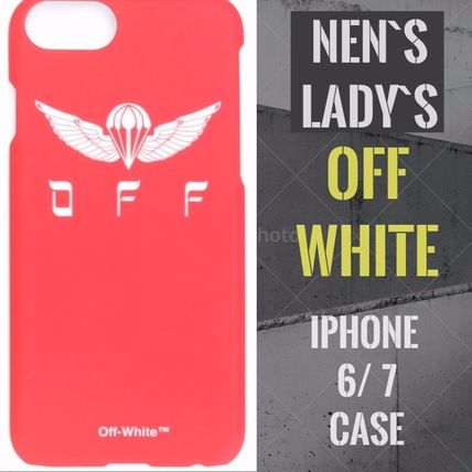 Off-White レッドプリント iPhone 6/7 ケース 男女兼用