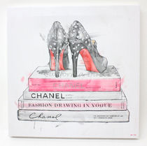 Oliver Gal 小さいサイズ 41x41cm Spiked Up Pumps キャンバス