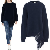 17-18AW SM392 CASHMERE BLEND SWEATER WITH FRINGE