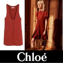 Chloe Wool Pinafore Dress