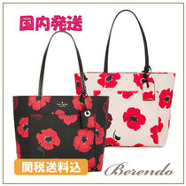 国内発送◆kate spade Hyde Lane Poppies Small Riley トート2色