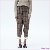 【17aw NEW】CELINE_women/CROPPED TROUSERS/チェックパンツBR