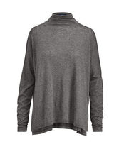 Boxy Jersey Turtleneck Shirt