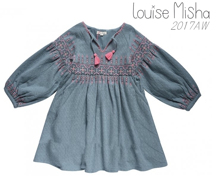 2018AW【Louise Misha】ワンピース*Nazra Blue*2-10歳