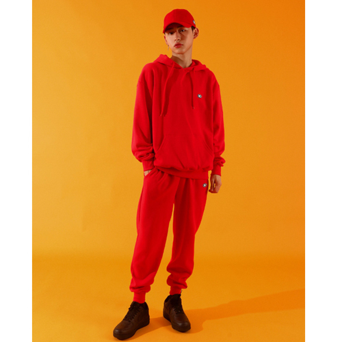 ★BASIC COTTON★正規品/日本未入荷/color logo pants(rd)