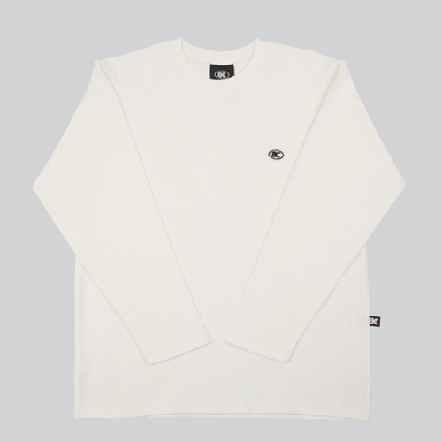 ★BASIC COTTON★正規品/日本未入荷/color logo long top(wh)