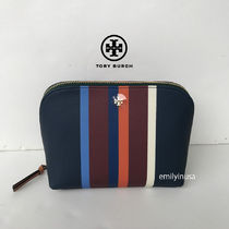 即発! TORY BURCH★KERRINGTON COSMETIC CASE*上品なストライプ