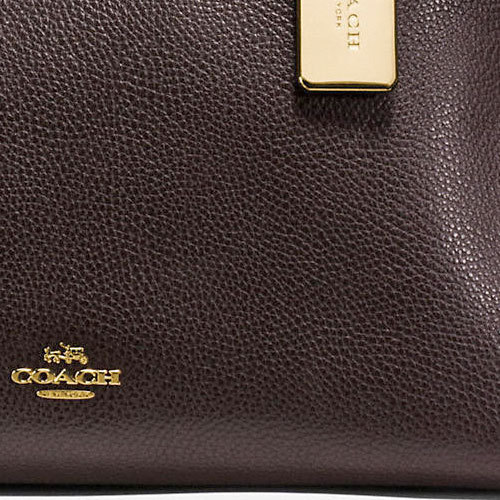 COACH★TURNLOCK EDIE CARRYALL IN MIXED LEATHERS 20165