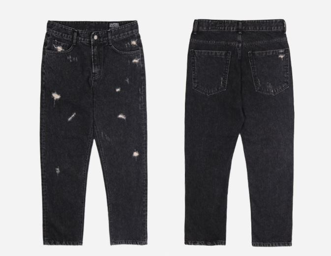 日本未入荷FILLUMINATEのBlack Damage Jean