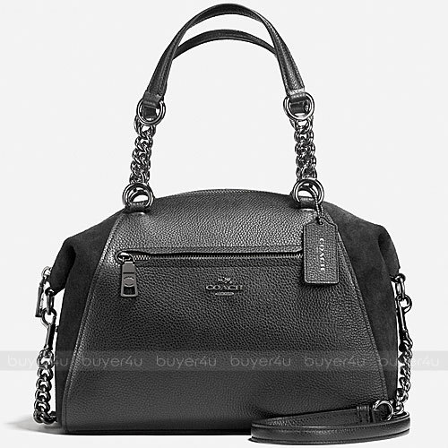 COACH★CHAIN PRAIRIE SATCHEL IN MIXED LEATHERS 20166