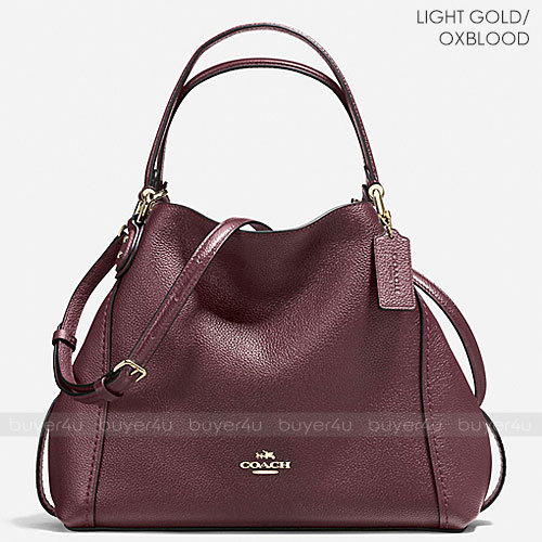 COACH★EDIE SHOULDER BAG 28 POLISHED PEBBLE LEATHER 57124