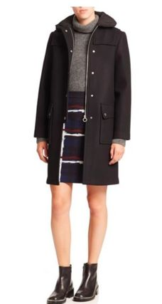 セール!Marc by Marc Jacobs Norman Bonded Wool Techno Coat