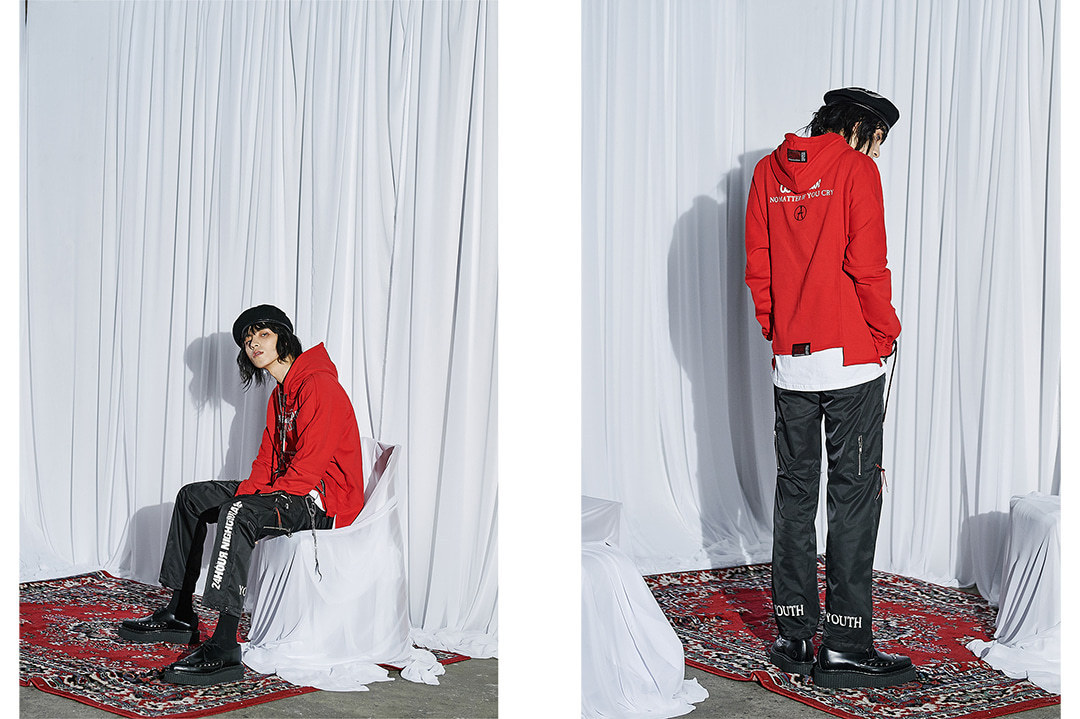 ☆ANOTHERYOUTH(アナザーユース)☆string hoodie - red