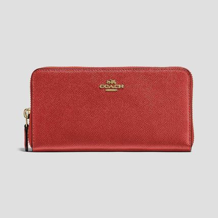 COACH AccordionZipWallet In Polished Pebble Leather コーラル