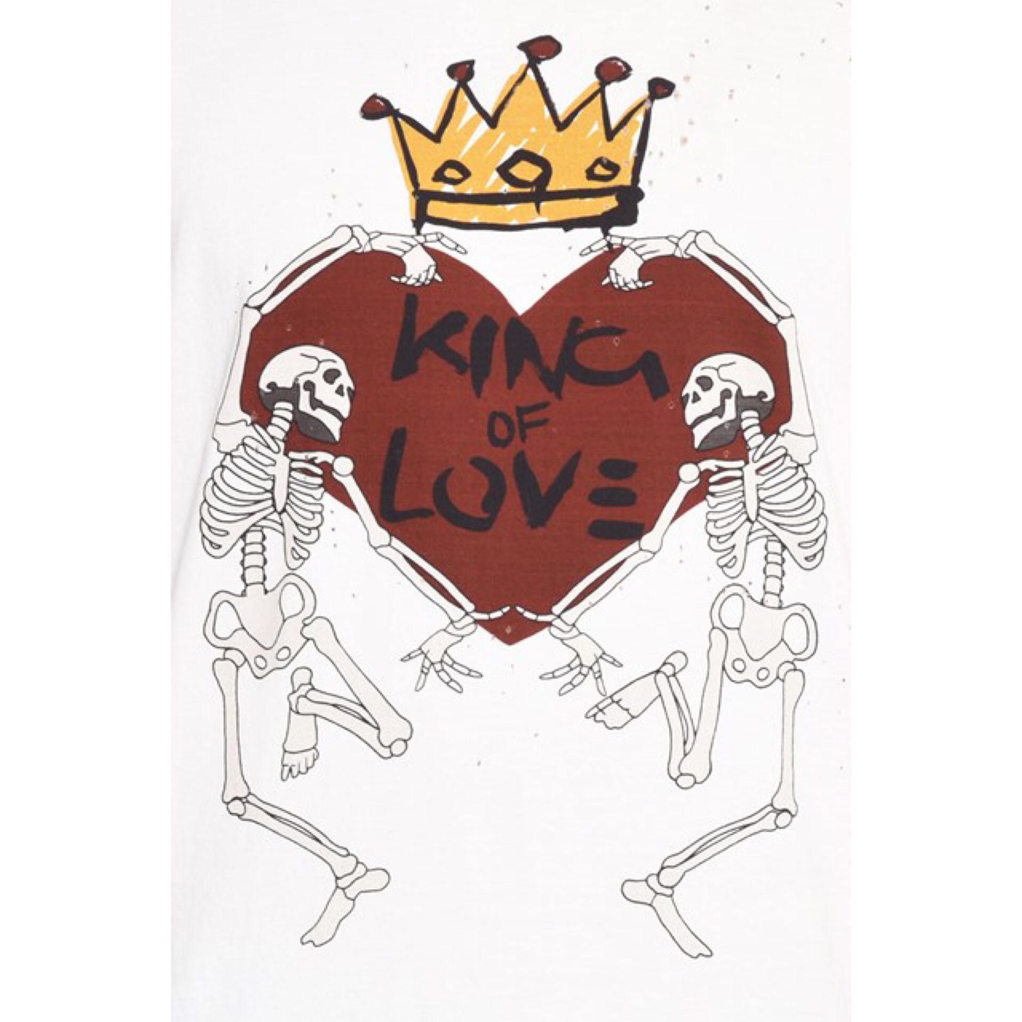 新作【Dolce & Gabbana】King of Love 七分袖 Tシャツ