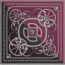 【HERMES】正規店!新作★Washington's Carriage Cut Bandana